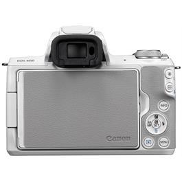 Canon EOS M50 Mirrorless Camera Body - White Thumbnail Image 2